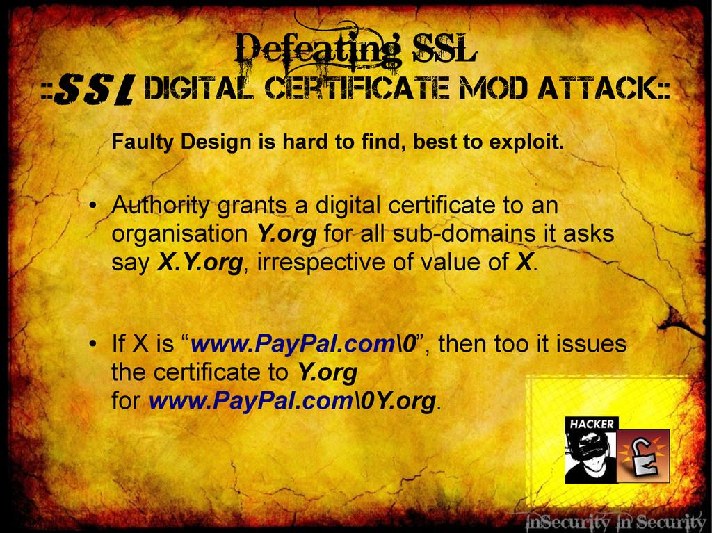 Defeating SSL ::SSL Digital Certificate Mod Att...
