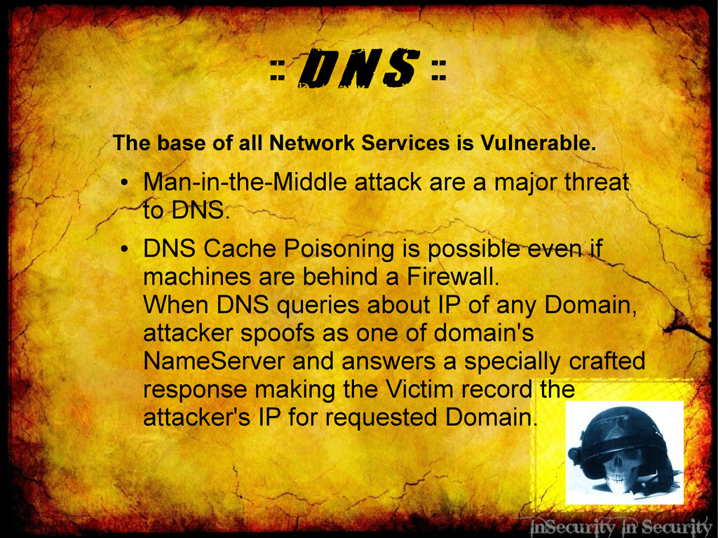 :: DNS :: The base of all Network Services is V...