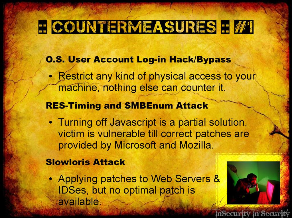 :: Countermeasures :: #1 O.S. User Account Log-...