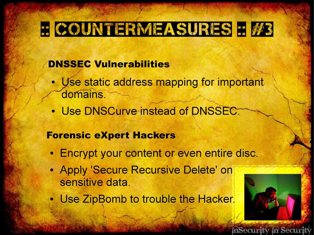 :: Countermeasures :: #3 DNSSEC Vulnerabilities...