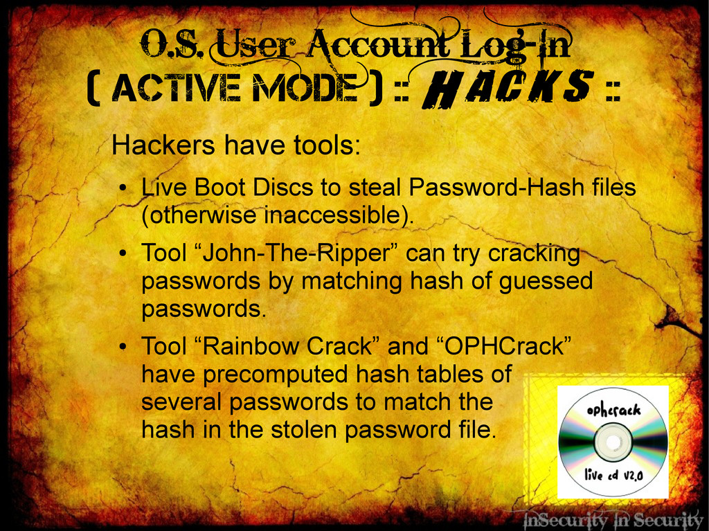 O.S. User Account Log-In ( Active Mode ) :: Hac...
