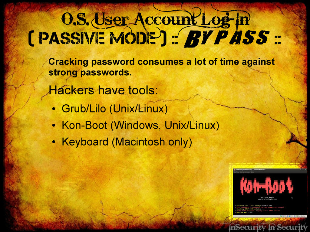 O.S. User Account Log-In ( Passive Mode ) :: By...