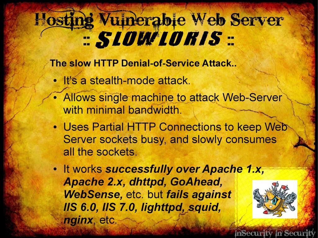 Hosting Vulnerable Web Server :: Slowloris :: T...