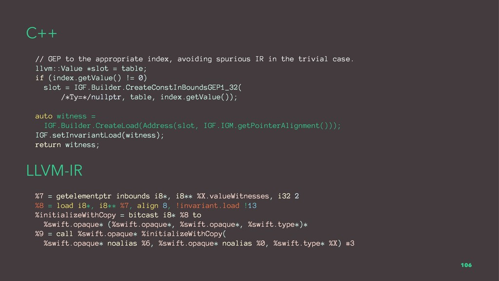 C++ // GEP to the appropriate index, avoiding s...