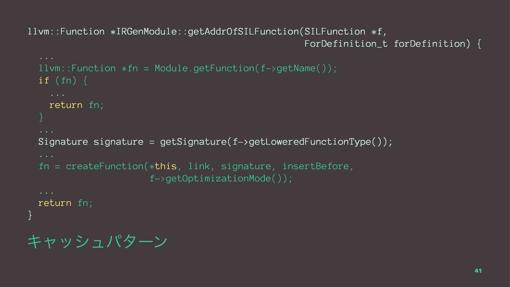 llvm::Function *IRGenModule::getAddrOfSILFuncti...