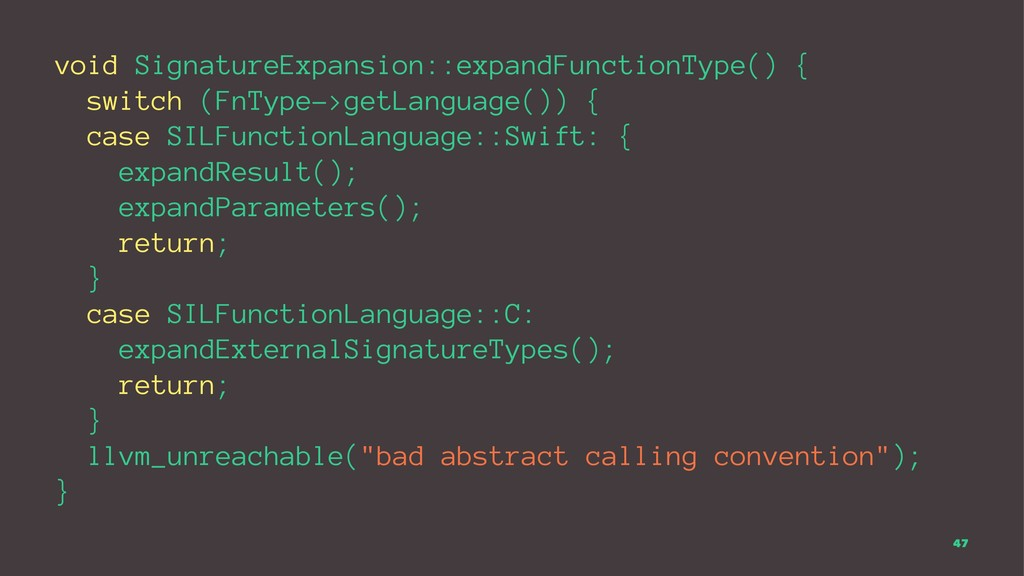void SignatureExpansion::expandFunctionType() {...