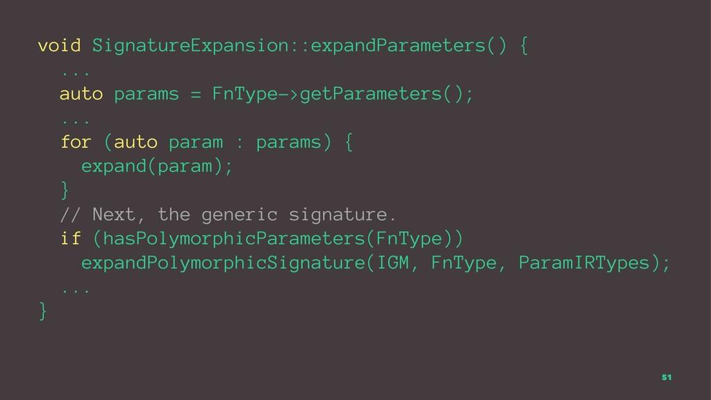 void SignatureExpansion::expandParameters() { ....