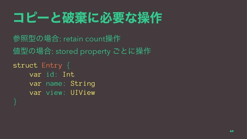 ίϐʔͱഁغʹඞཁͳૢ࡞ রܕͷ߹: retain countૢ࡞ ܕͷ߹: stor...