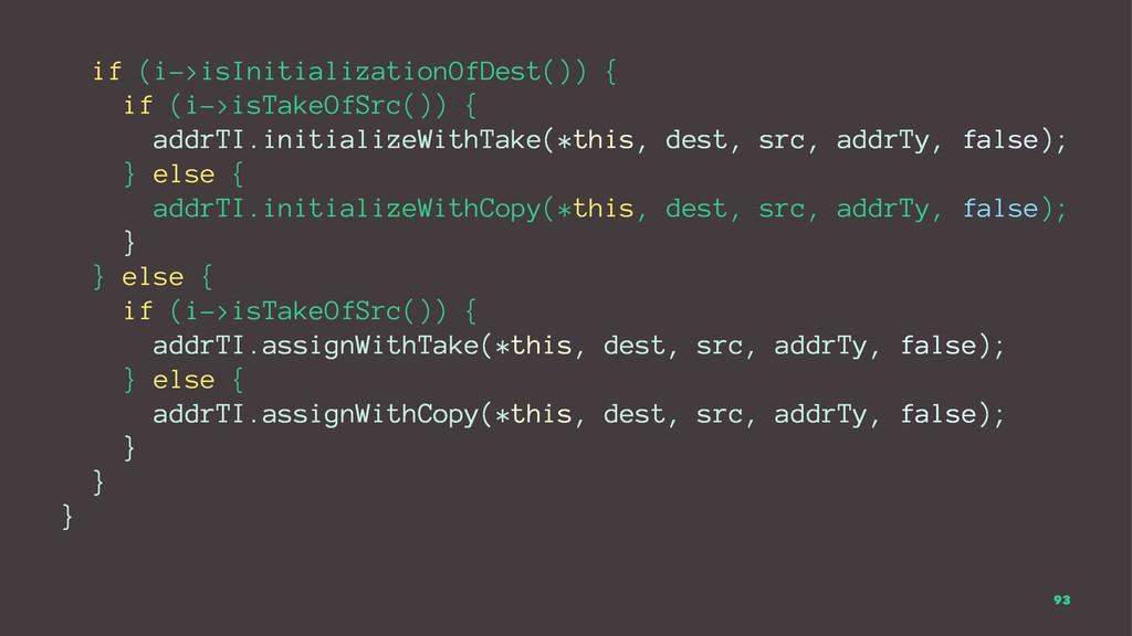 if (i->isInitializationOfDest()) { if (i->isTak...