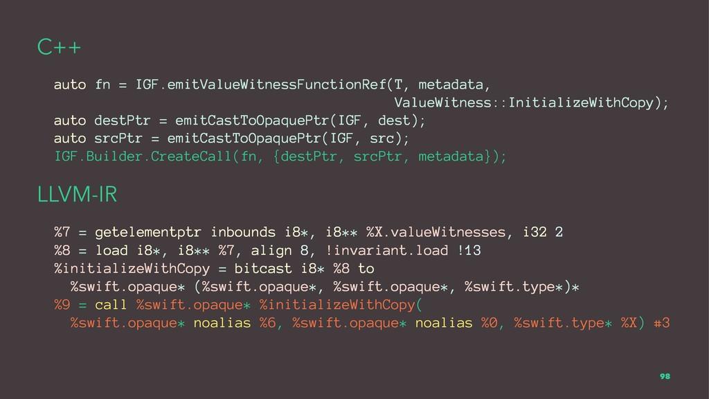 C++ auto fn = IGF.emitValueWitnessFunctionRef(T...