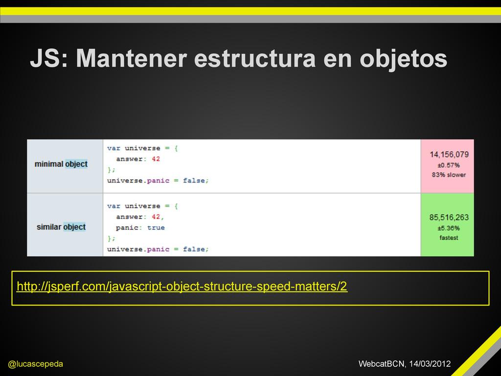 JS: Mantener estructura en objetos @lucascepeda...