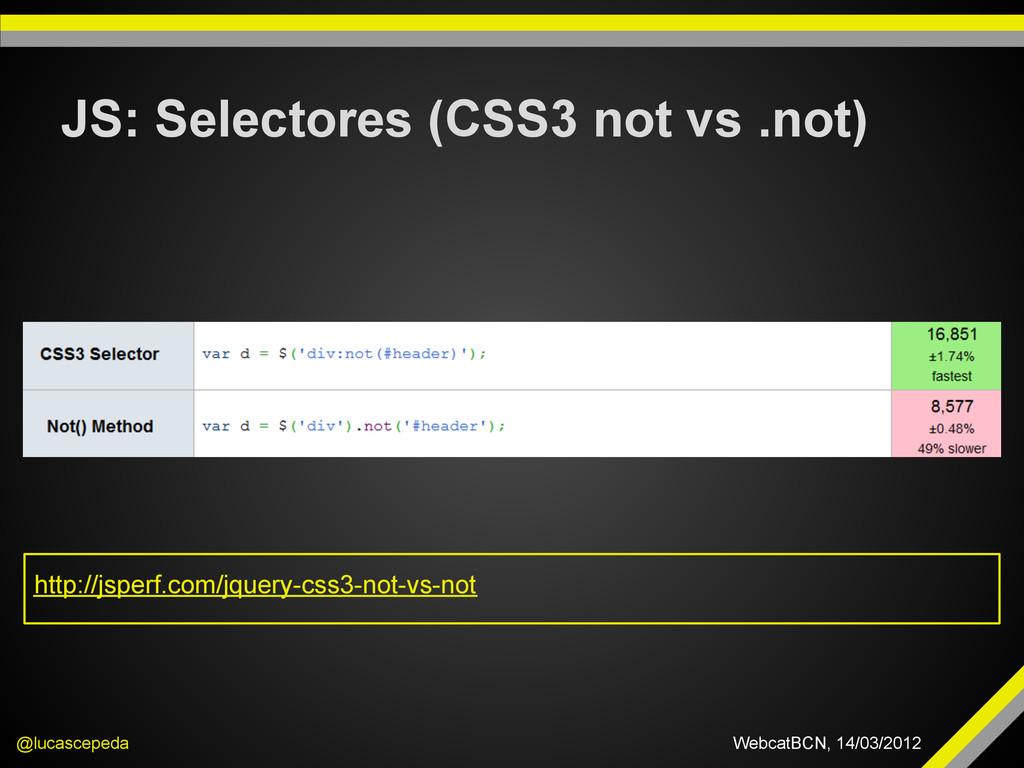 JS: Selectores (CSS3 not vs .not) @lucascepeda ...