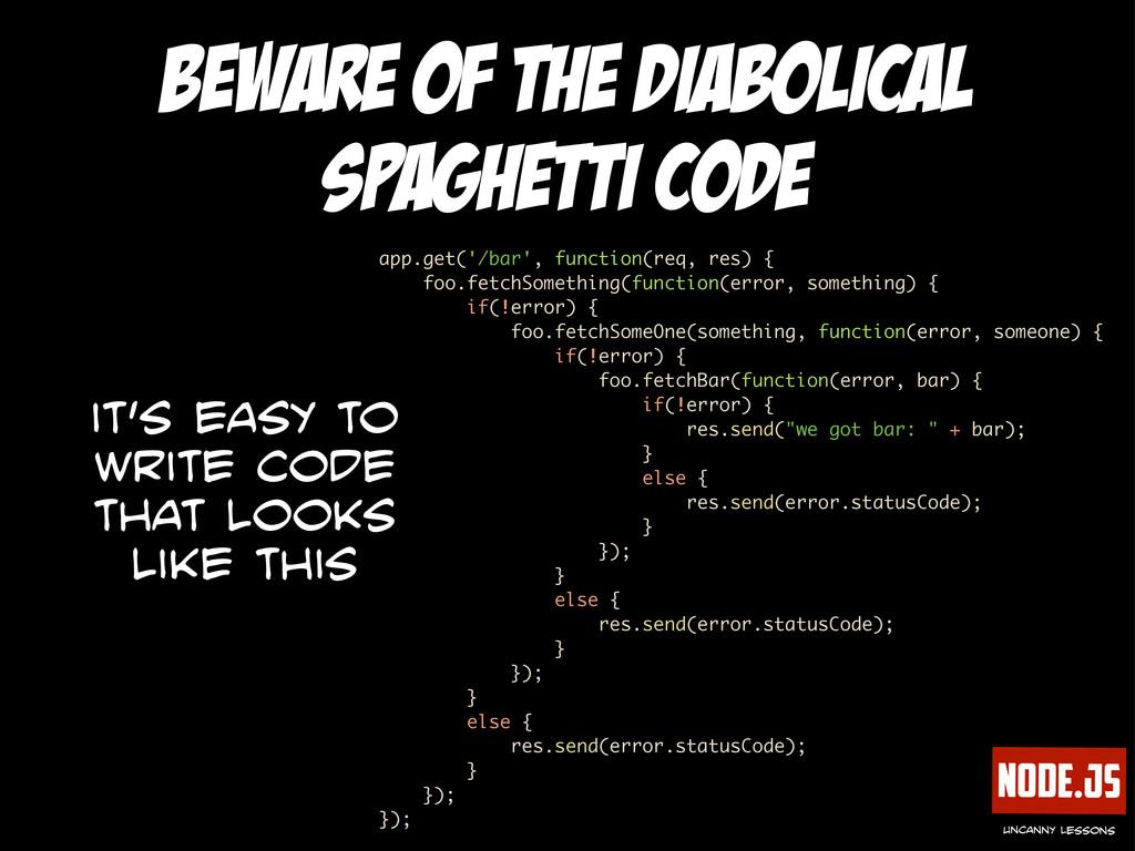 Node.js uncanny lessons beware of the diabolica...