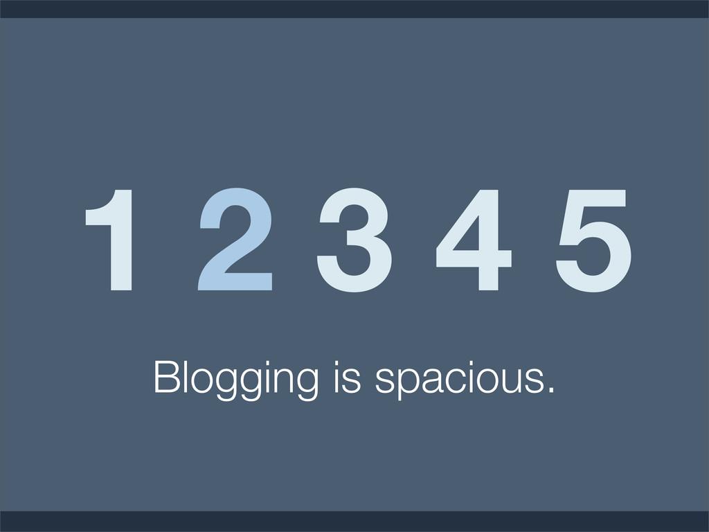 1 2 3 4 5 Blogging is spacious.