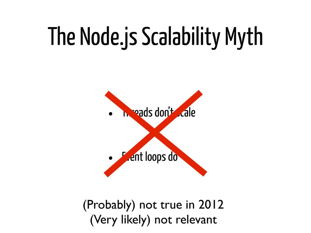 The Node.js Scalability Myth • Threads don't sc...