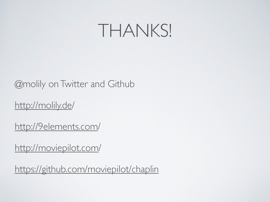 THANKS! @molily on Twitter and Github http://mo...