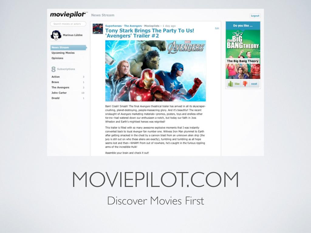 MOVIEPILOT.COM Discover Movies First