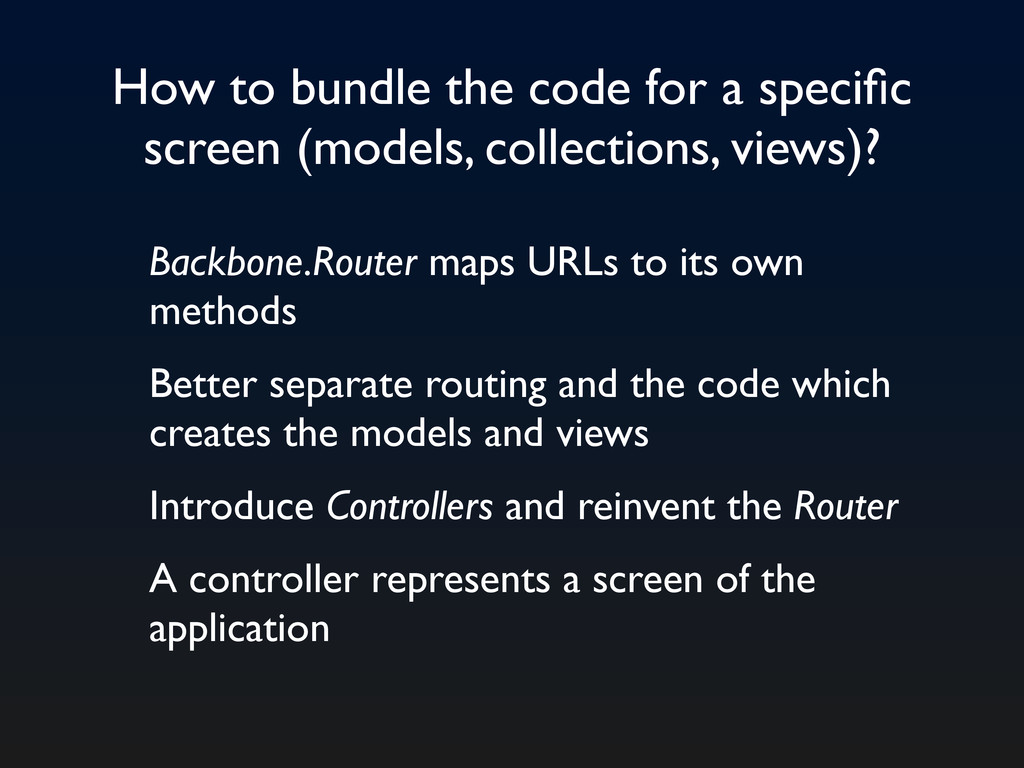 How to bundle the code for a specific screen (mo...