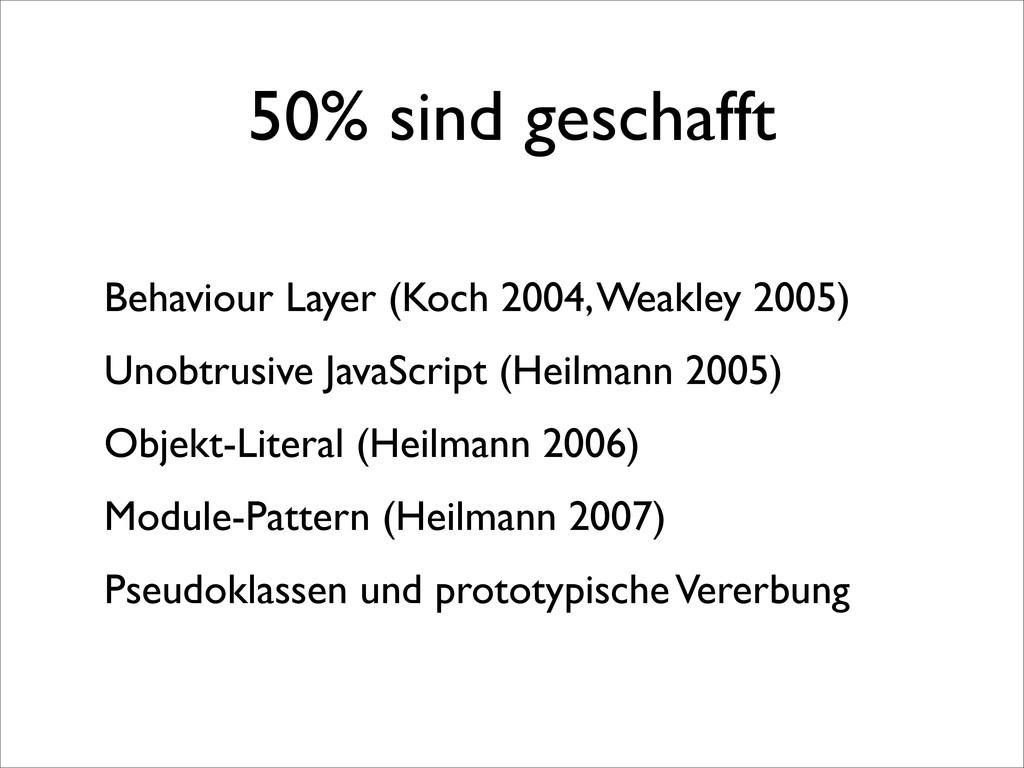 50% sind geschafft Behaviour Layer (Koch 2004, ...