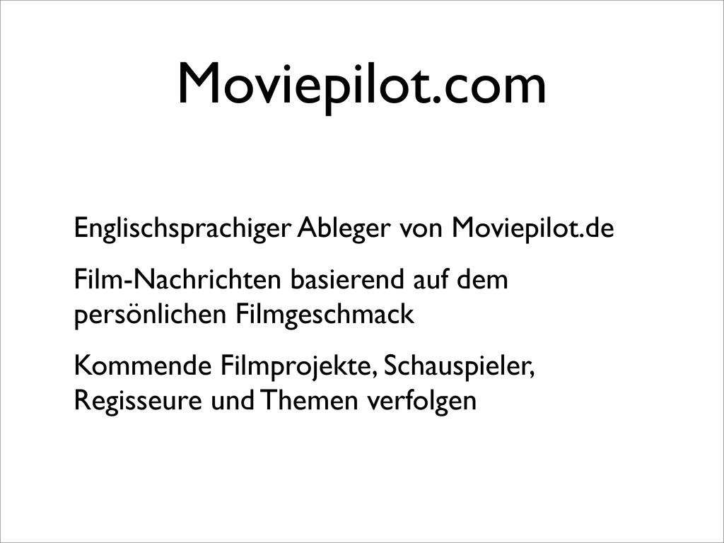 Moviepilot.com Englischsprachiger Ableger von M...