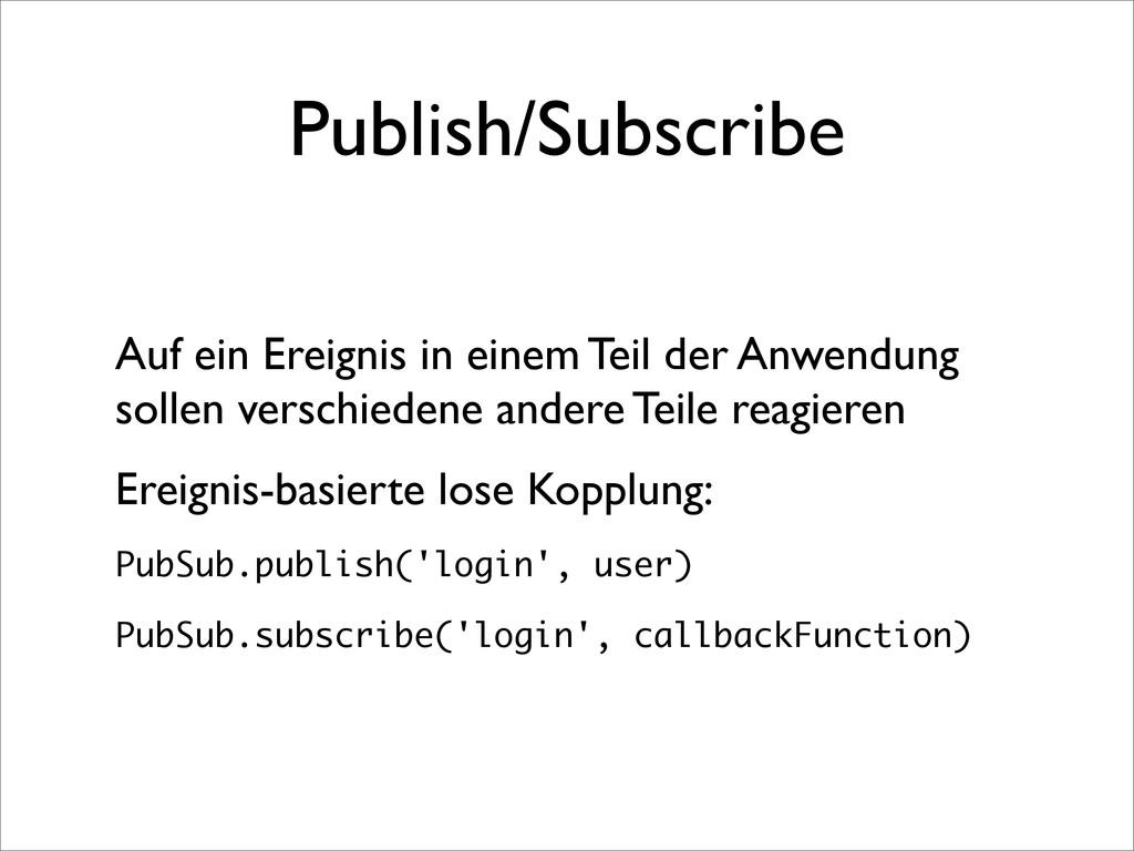 Publish/Subscribe Auf ein Ereignis in einem Tei...