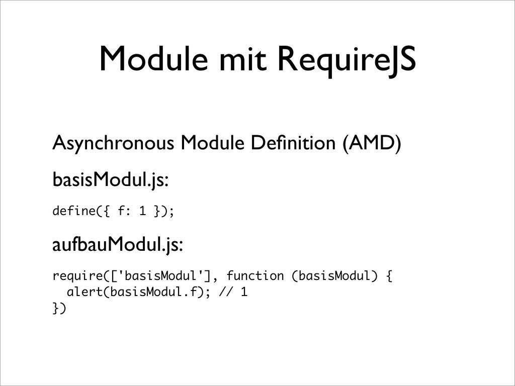 Module mit RequireJS Asynchronous Module Definit...