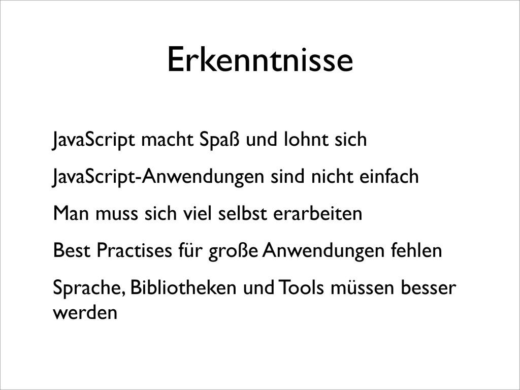 Erkenntnisse JavaScript macht Spaß und lohnt si...