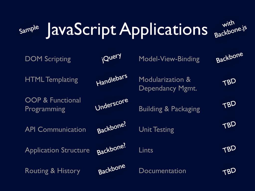 DOM Scripting HTML Templating OOP & Functional ...