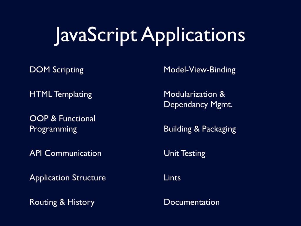 JavaScript Applications DOM Scripting HTML Temp...