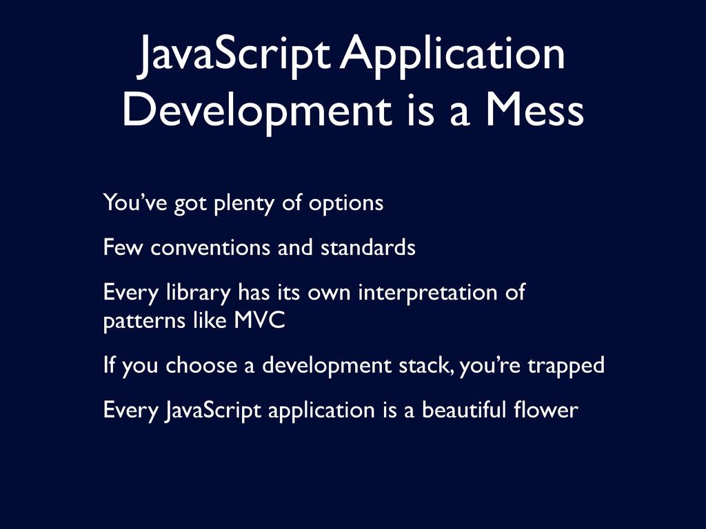 JavaScript Application Development is a Mess Yo...