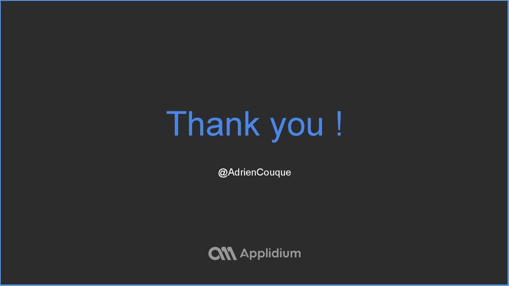 Thank you ! @AdrienCouque