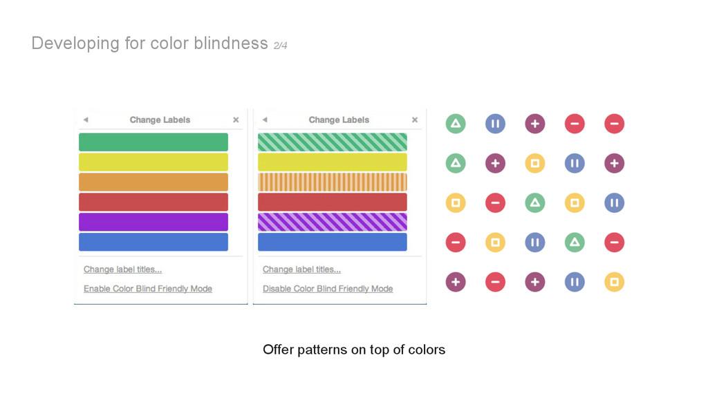 Developing for color blindness 2/4 Offer patter...