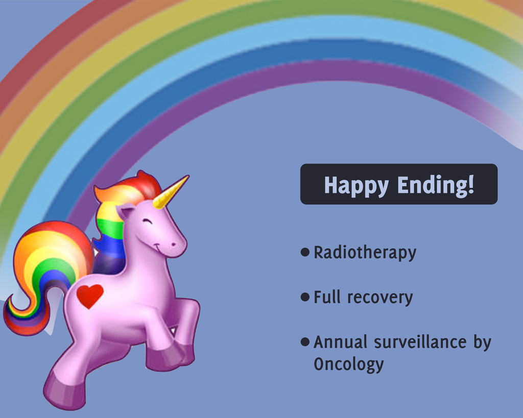 Happy Ending! •Radiotherapy •Full recovery •Ann...