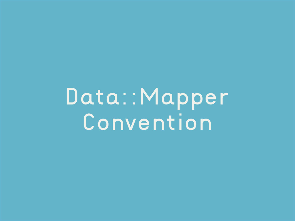 Data::Mapper Convention