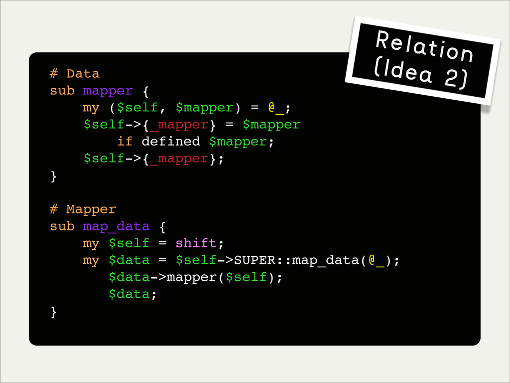 # Data sub mapper { my ($self, $mapper) = @_; $...