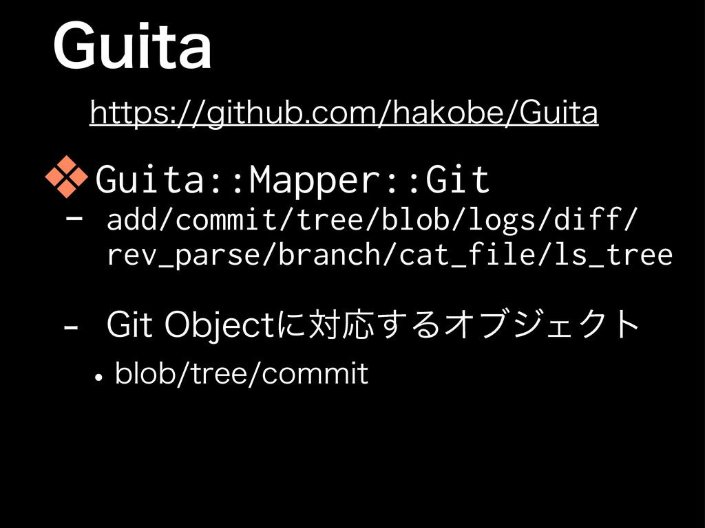 (VJUB ❖Guita::Mapper::Git - add/commit/tree/blo...