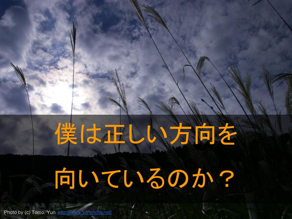 僕は正しい方向を 向いているのか? Photo by (c) Tomo. Yun http:/...