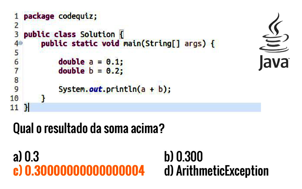 Qual o resultado da soma acima? a) 0.3 b) 0.300...