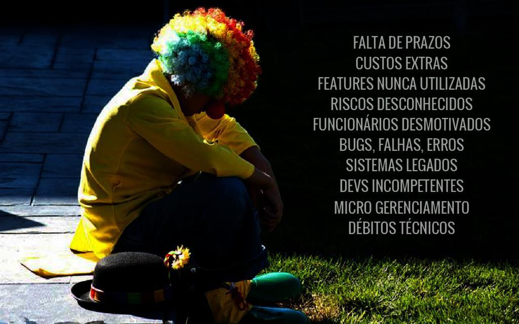 FALTA DE PRAZOS CUSTOS EXTRAS FEATURES NUNCA UT...