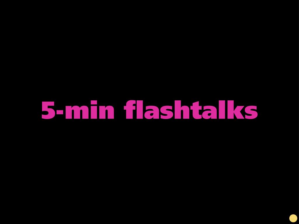 5-min flashtalks