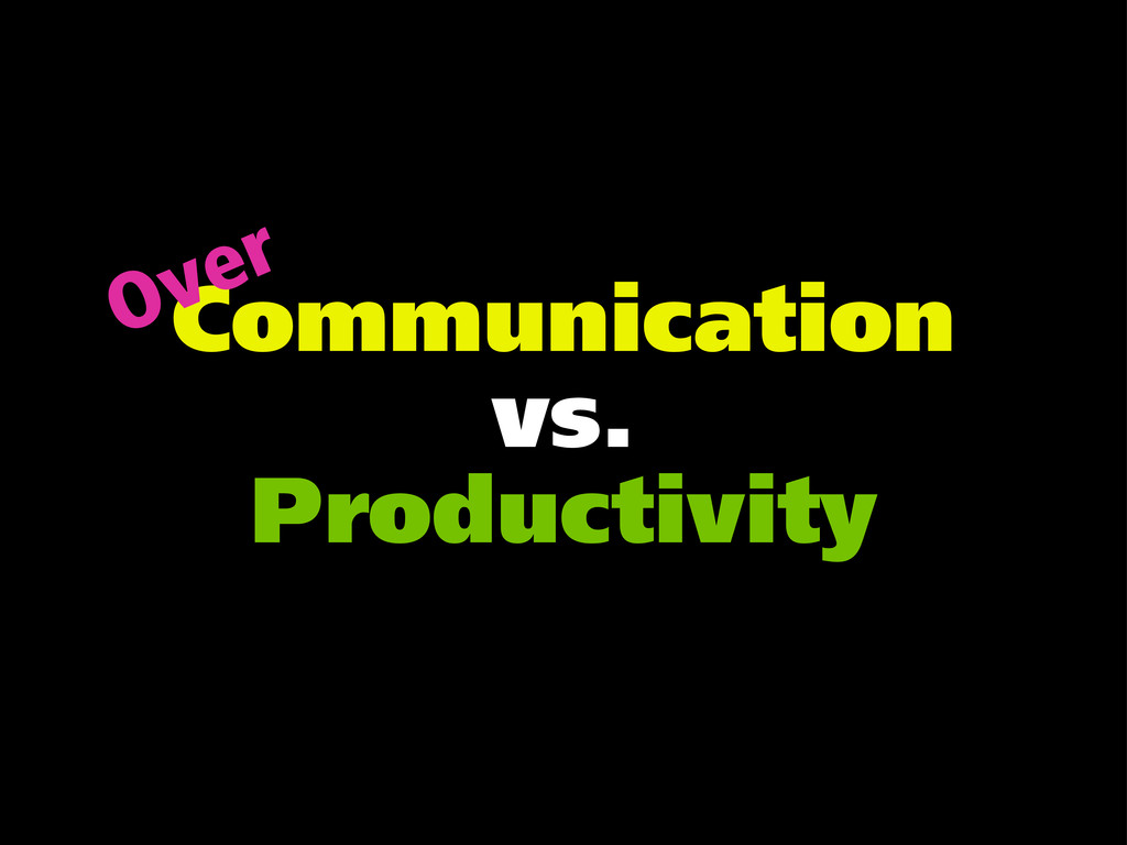 Communication vs. Productivity Over