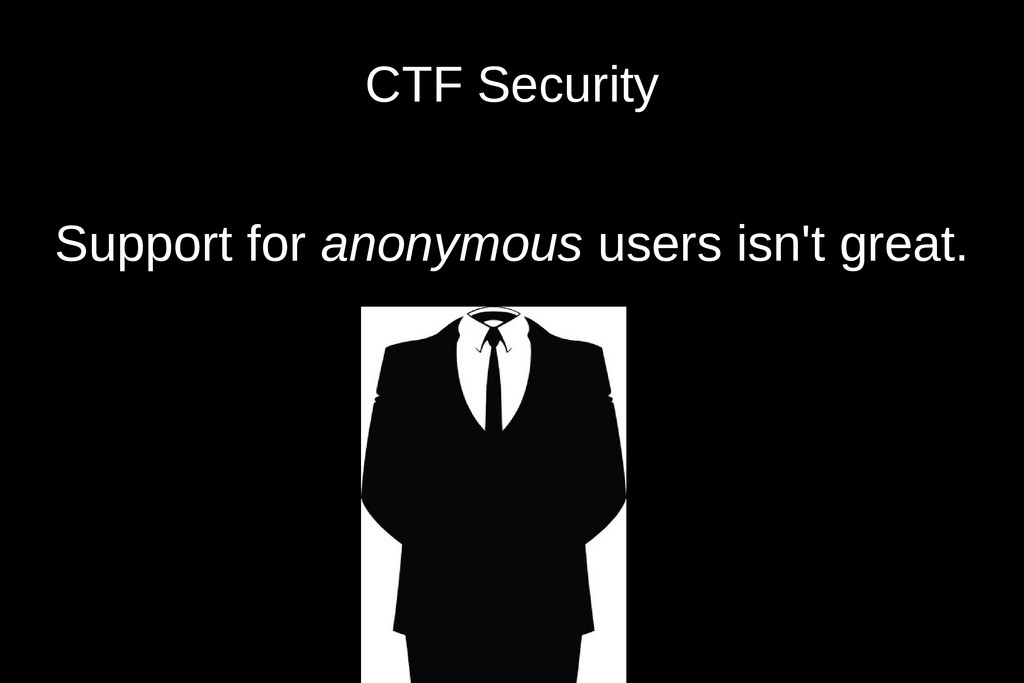 CTF Security Support for anonymous users isn't ...