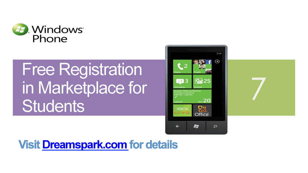 Free Registration in Marketplace for Students D...