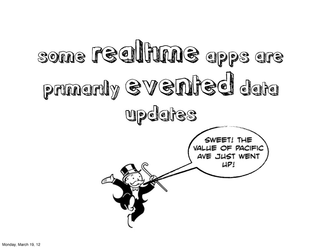 some realtime apps are primarily evented data u...
