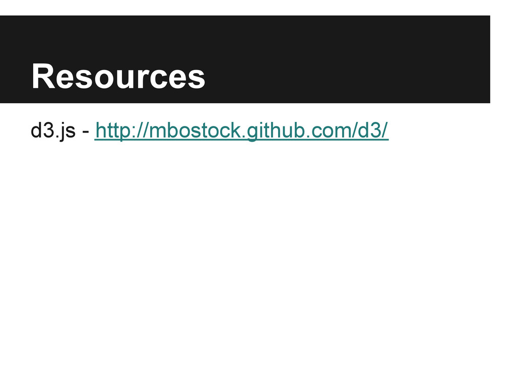 Resources d3.js - http://mbostock.github.com/d3/