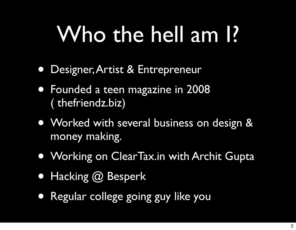 Who the hell am I? • Designer, Artist & Entrepr...