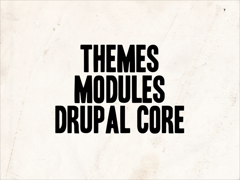7 Drupal Core Modules Themes