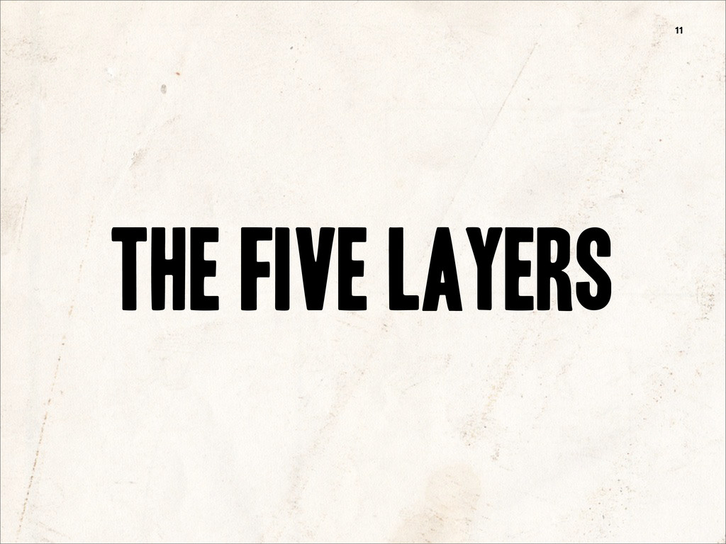 the five layers 11