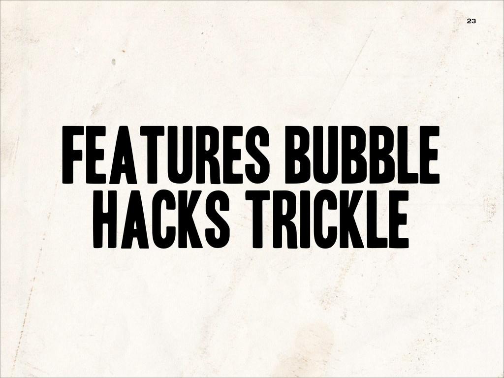 Features bubble hacks trickle 23