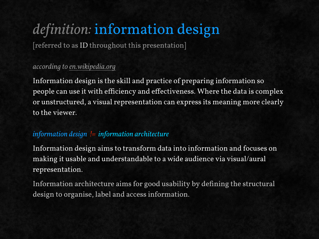 de!inition: information design [referred to as ...